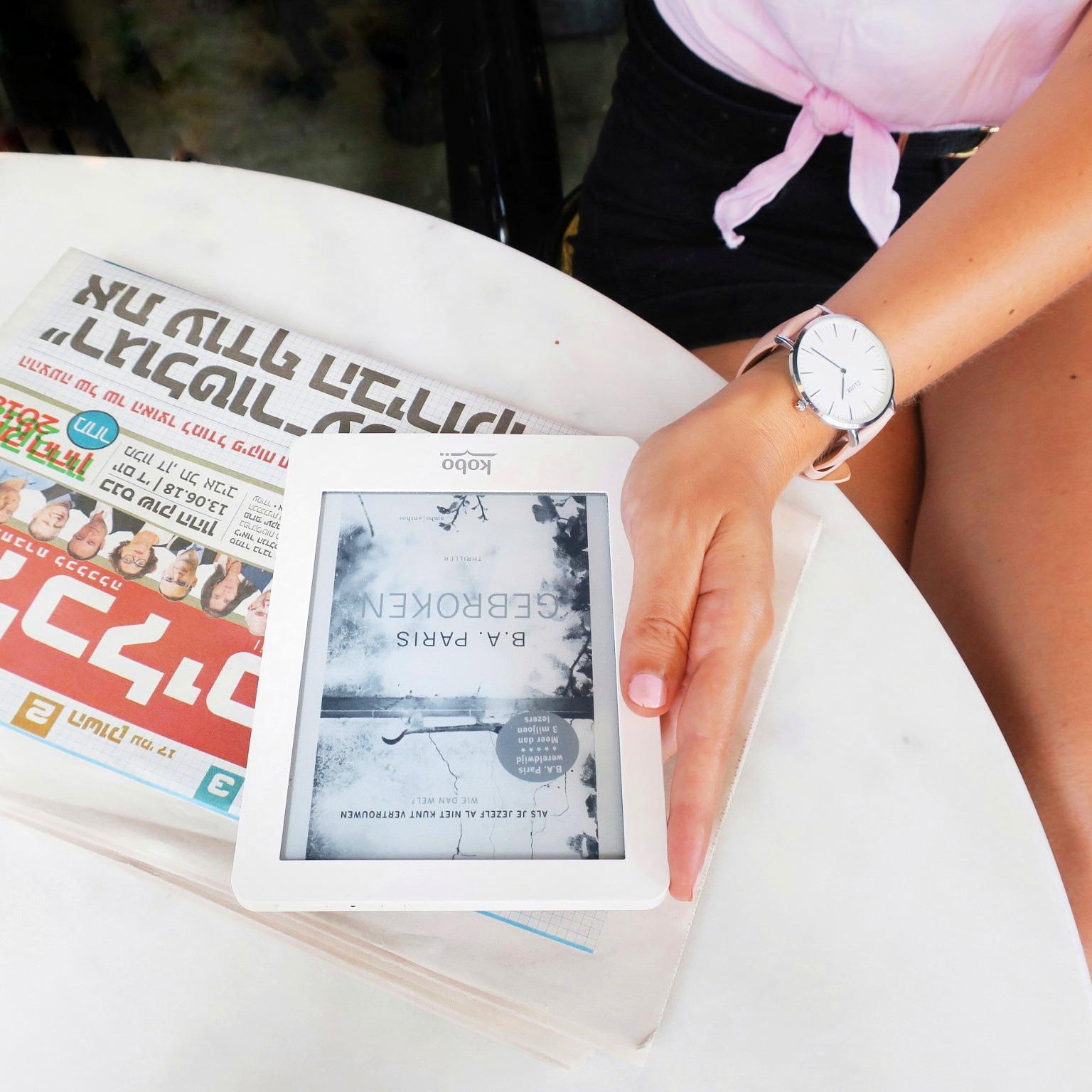 Boekrecensie: B.A. Paris – Gebroken (Kobo Glo e-reader in Israël)