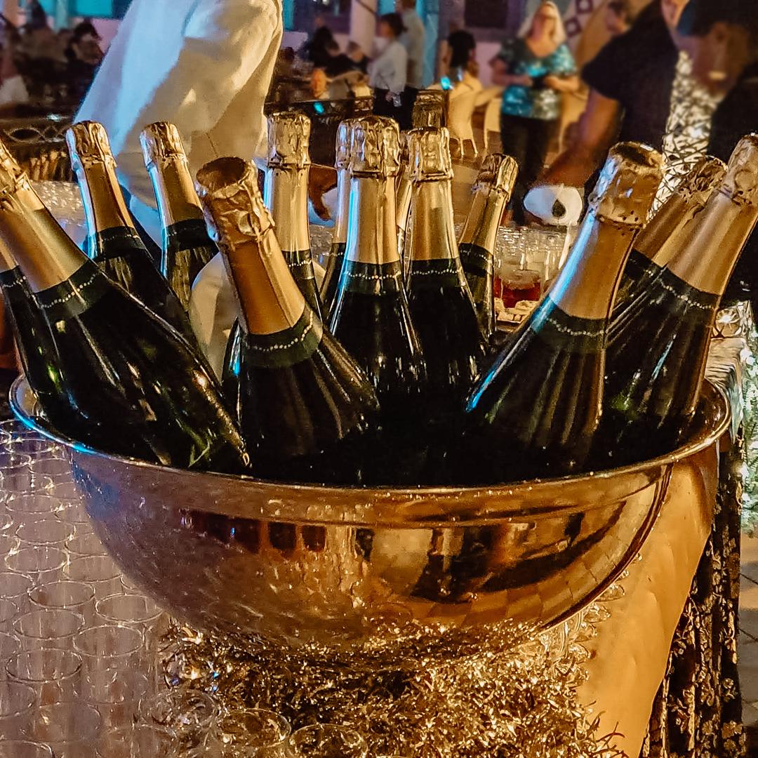 RIU Touareg, Oud en Nieuw en champagne