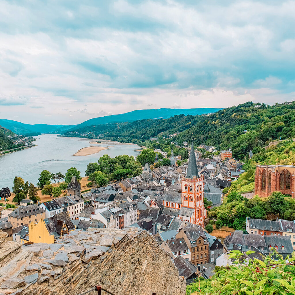 Uitzicht Bacharach, Duitsland